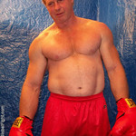huge muscular arms boxer older men