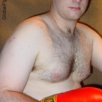 handsome college boxer hairy cub