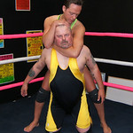 big stocky biker man choke hold