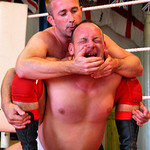 wrestler getting beaten