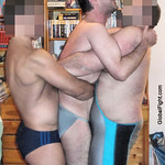 3 gay guys erotic home wrestling match