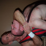 ginger redhead getting choked by marine