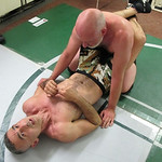 a hairy men wrestling session training school